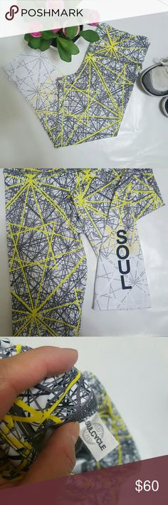 "Soulcycle Geometric Print Crops Awesome crops. As pictured and in excellent pre-loved condition. Waist 13"" Inseam 20"" Soulcycle Pants"