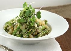 Authentic Suburban Gourmet: English Pea and Asparagus Couscous Risotto