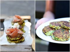 Zucchini fritters with topping - A tasty love story
