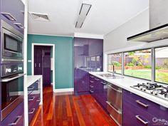 Purple Kitchen with Teal i want a purple kitchen in my house