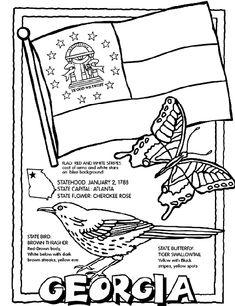 Georgia (U.S.State) coloring page