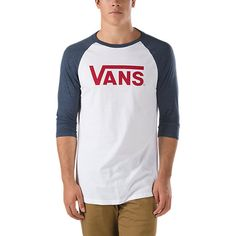 6776885dd4 The Vans Classic Baseball T-Shirt is a 50% combed ringspun cotton