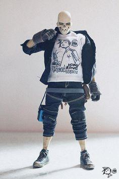 Skull Man x 3A by toybot studios