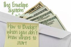 How to Budget your money with just envelopes. I JUST did this the way she said, and WOW!!! Makes it seem SO easy! I'm really excited!!!