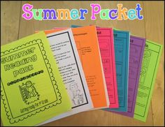 Summer Literacy Packet for Kindergarten (Getting ready for 1st Grade)