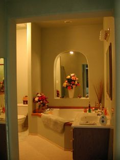 Suite Comfort U2014 Oversized Corner Bathtub In One Of The Eight Suites. Arched  Opening Is