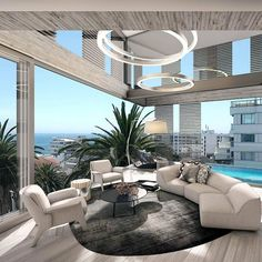 Perfect Modern Living Room Decor Ideas — Home Design Ideas Luxury Rooms, Luxury Home Decor, Luxury Apartments, Luxury Living, Luxury Condo, Luxury Hotels, Home Design, Best Interior Design, Modern House Design