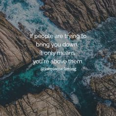 People try to bring you down when they are afraid of your potential! Online Marketing, Digital Marketing, Mind Gym, Monday Motivation, Entrepreneurship, Motivational Quotes, Life Quotes, Bring It On, People