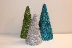 My Own Road:  tree form and garland Christmas trees using cereal boxes instead of styrofoam forms