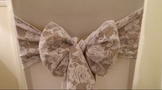 Hessian & Lace sash  www.blueorchid-events.com