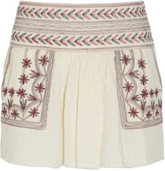 Étoile Isabel Marant Vera embroidered cotton-muslin mini skirt