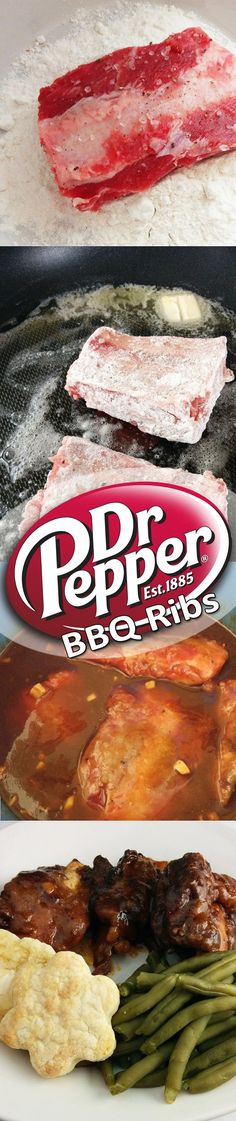 Unbelievable ribs made with Dr. Pepper and BBQ sauce in a slow-cooker.