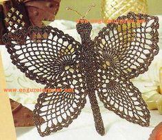 Örgü Dersleri ve Örgü Rehberi - Ev süslemesinde Örgü Kelebekler