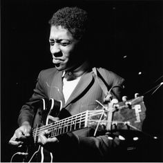 "Guitarist Grant Green was one of Blue Note's most prolific discoveries. He is seen here at his ""Feelin' The Spirit"" session of December 21, ..."