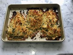 Kitchen Cactus: Roasted Cod with a Lemon, Garlic & Parsley Crust Roasted Cod, Lemon Salt, Lemon Wedge, Bread Crumbs, Parsley, Cooking Time, Banana Bread, Dinner Ideas, Garlic