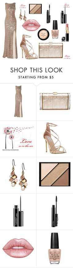 """""""Bez naslova #61"""" by amraa-145 ❤ liked on Polyvore featuring Badgley Mischka, Edie Parker, Steve Madden, Lucky Brand, Elizabeth Arden, MAC Cosmetics, Lime Crime and OPI"""