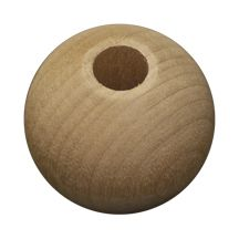 "33MM (1-5/16"") Round Wood Bead, 3/8"" hole"