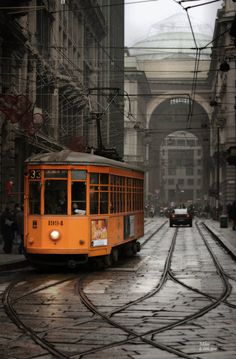 Streetcar in Milan, Italy