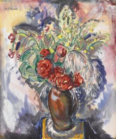 Alfred Henry Maurer - Still Life with Roses in a vase circa 1926.