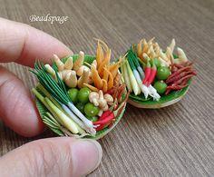 Miniature Herbs & Spices Asian fresh Produces Ginger Chilli Lime Basket Farmer's Market (see Item Details for description)