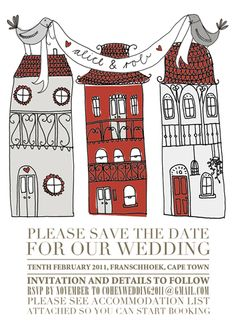 Lauren Fowler design...Awesomeness :) Daughters, To My Daughter, Save The Date, Our Wedding, Illustrations, Graphic Design, My Love, Illustration, Wedding Invitation