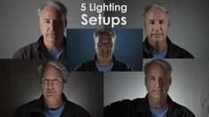 Practicing 5 Different Setups Using my Flat LED Lights with Grids - YouTube