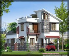 Latest Villa Elevation at 1577 sq.ft - Best Elevation http://www.onside.in/