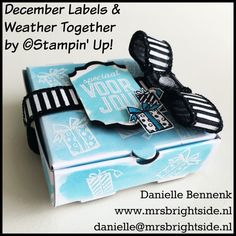 December Labels merry little labels and mini pizza box Sneak Peek/Spotlight Project 2 - Mrs. Brightside - Danielle Bennenk Stampin' Up!
