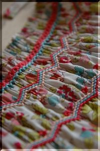 Smocking--like the use of stacked colors
