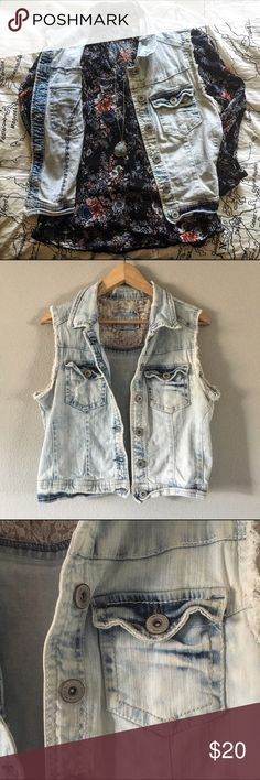 Host Pick Denim Vest This denim vest is super stylish and perfect for any season. Throw it over a tank top for summer or layer it with a sweater for fall. It is a light blue wash with beautiful hints of deep rich blue. It has an almost ombre look to it. There are two button pockets as detail on the front. This is a juniors size XL and will for various different women's sizes. Jackets & Coats Vests