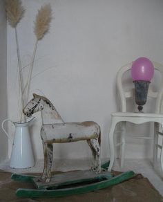 antique rocking horse-for ledge in nursery