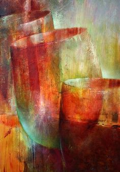 "Annette Schmucker, ""Drei Gläser"" With a click on 'Send as art card', you can send this art work to your friends - for free!"