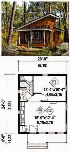 I Just Love Tiny Houses!: TINY HOUSE – Blueprint Source by Our Reader Score[Total: 0 Average: Related photos:House Plans with One Bedroom Cross Gable Roof - Tiny House Design Haus 7 × 7 Designpläne mit 2 Schlafzimmern - Hauspläne S Tiny Cabins, Tiny House Cabin, Cabins And Cottages, Tiny House Living, Tiny House Design, Small House Plans, Tiny Home Floor Plans, Tiny Cabin Plans, Micro House Plans