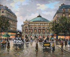 Jean Ribout (1940 - 1980) PARIS-L'OPERA