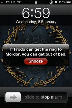 First @giannaventrella needs to watch lord of the rings. Then she needs to put this as her alarm