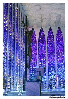 Inside the Sanctuary of Dom Bosco in Brasilia, Brazil