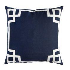 Caitlin Wilson Textiles: Navy Deco Pillow