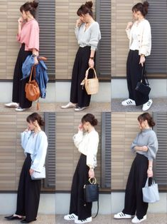 mihoニコさんのコーディネート Fashion Mode, Japan Fashion, Modest Fashion, Fashion Pants, Daily Fashion, Love Fashion, Korean Fashion, Fashion Outfits, Womens Fashion
