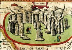 Stonehenge, from the atlas of John Speed, 1611