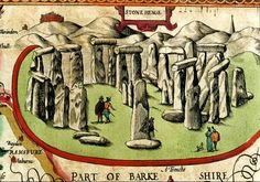 A drawing of Stonehenge, from the atlas  of John Speed,1611