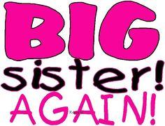 Big Sister Again iron-on shirt decal NEW by kustomdesignzbyk. $3.50, via Etsy.