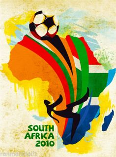 2010-FIFA-World-Cup-Soccer-South-Africa-Sports-Travel-Advertisement-Poster