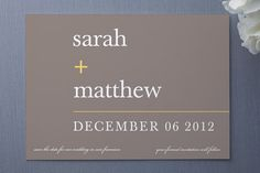 Save the Dates using math. Great colors, simplicity, fonts - script looks too small/hard to read, though
