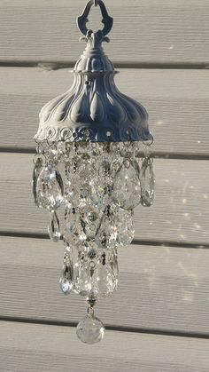 Chandelier crystal garden art sun catcher wind chime Dishfunctional Designs: The. Chandelier crystal garden art sun catcher wind chime Dishfunctional Designs: The Upcycled Garden Volume Using Recycled Salvaged Materials In Your G.