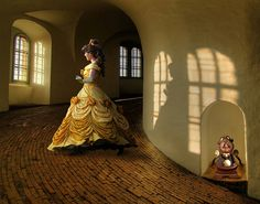 Belle And Cogsworth • Beauty And The Beast