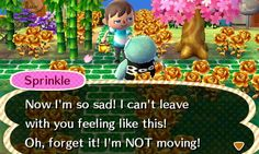 Sprinkle told me she was moving out, and then immediately changed her mind.
