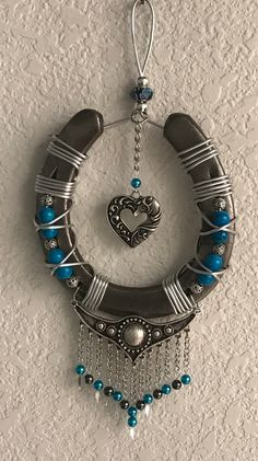 Your place to buy and sell all things handmade Horseshoe Crafts, Lucky Horseshoe, Horseshoe Art, Native American Decor, Cowboy Christmas, Southwestern Decorating, The Ranch, Gift For Lover, Antique Silver