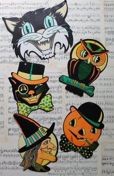 vintage halloween clipart free-Literally remember these as a kid in our house. <3!