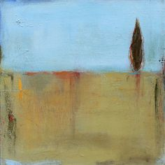"""""""Standing Alone""""  12x12 Contemporary Abstract Landscape Painting by Jacquie Gouveia, $110.00 Gallery wrapped canvas, wired and ready to hang - sides are painted - no framing needed!"""
