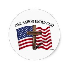 One Nation Under God with rugged cross and US flag    •    Celso from CA, Thank you for your purchase!   •   This design is available on t-shirts, hats, mugs, buttons, key chains and much more   •   Please check out our others designs at: www.zazzle.com/TsForJesus* #jesus #cross